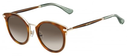 Jimmy Choo RAFFY/S QAN (J6) Havana Glitter Brown - Brown Shaded