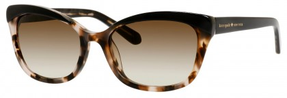 Kate Spade AMARA/S 0FP/CC Black Havana - Brown Shaded