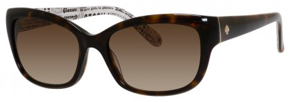 Kate Spade JOHANNA/S 086/Y6 Dark Havana - Dark Brown Shaded