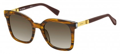 Max Mara MM GEMINI I SX7/HA Striped Brown - Brown Shaded