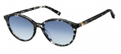 Max Mara MM HINGE III 7RM/08 Black Crystal - Grey Blue Shaded