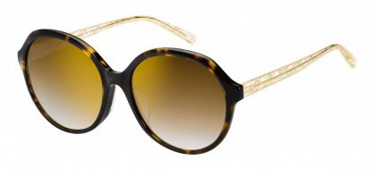 Max Mara MM TWIST II FS 086/JL Dark Havana - Brown Shaded