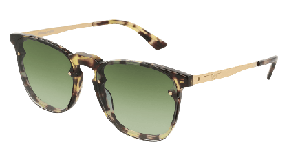 Mcq MQ0134S-004 Havana Gold - Green Brown