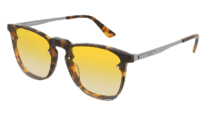 Mcq MQ0134S-005 Havana Ruthenium - Yellow Shiny