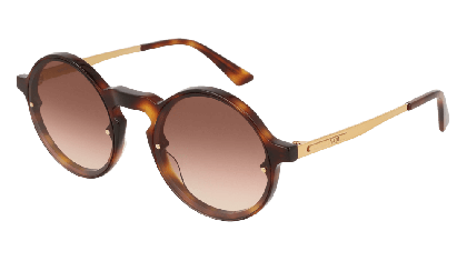 Mcq MQ0135S-002 Havana Gold - Brown Shiny