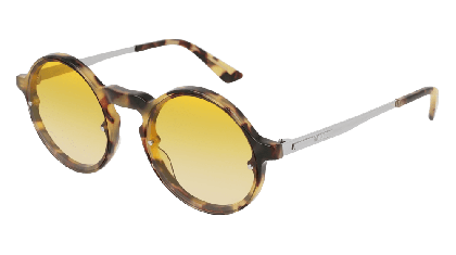 Mcq MQ0135S-005 Havana Silver - Yellow Shiny