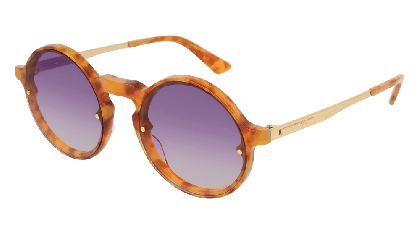Mcq MQ0135S-006 Havana Gold - Violet Orange