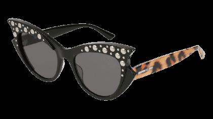 Mcq MQ0142S-001 Black Multicolor - Grey Shiny