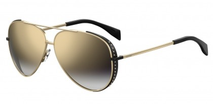 Moschino MOS007/S J5G/FQ Gold Black - Grey Gold Shaded