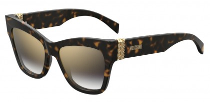 Moschino MOS011/S 086/FQ Dark Havana - Grey Gold Shaded