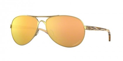 Oakley 0OO4079 FEEDBACK 407937 Polished Gold - Prizm Rose Gold Polarized