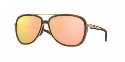 Oakley 0OO4129 SPLIT TIME 412914 Brown Tortoise/Gold - Prizm Rose Gold Polarized