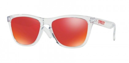 Oakley 0OO9013 FROGSKINS 9013A5 Polished Clear - Torch Iridium
