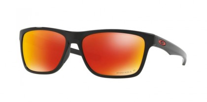 Oakley 0OO9334 HOLSTON 933412 Polished Black - Prizm Ruby Polarized