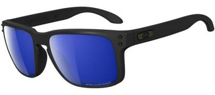 Oakley 0OO9102 HOLBROOK 910252 Matte Black - Ice Iridium Polarized