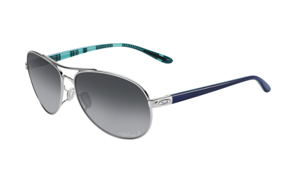 Oakley Polarized Feedback 4079-07 - Polished Chrome / Gray Gradient Polarized