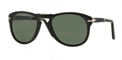 Persol 0PO0714 95/58 Black - Crystal Green Polarized