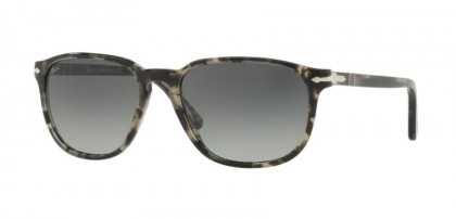 Persol 0PO3019S 106371 Spotted Grey Black - Grey Gradient Gold Mirror