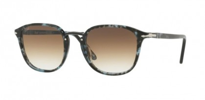 Persol 0PO3186S 1062/51 Spotted Blue Dark Grey - Clear Gradient Brown