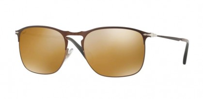 Persol 0PO7359S 1072W4 Matte Brown - Light Brown Mirror Gold