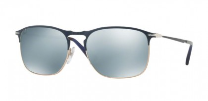 Persol 0PO7359S 107330 Blue Bronze - Light Green Mirror Silver