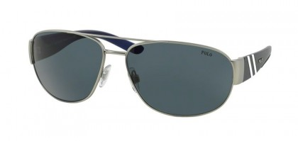 Polo Ralph Lauren 0PH3052 904687 Matte Silver - Gray