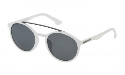 Police SK067 6VCX White Matte - Smoke Mirror Silver