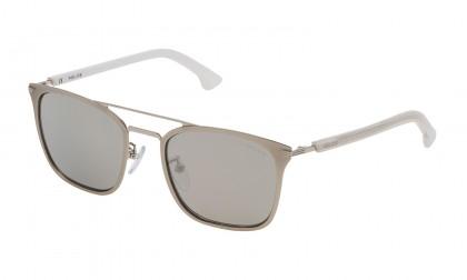 Police SK552 688X Palladium Semi Shiny - Smoke Mirror Silver