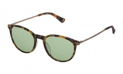 Police SPL474 742M Havana Light Matte - Green