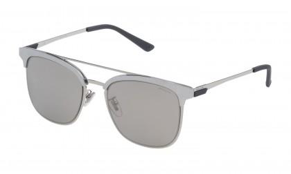 Police SPL569V 579X Palladium Shiny - Smoke Mirror Silver