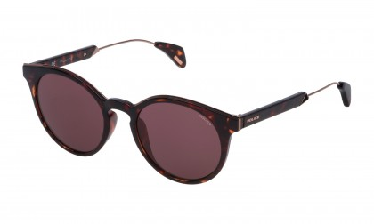 Police SPL620 0978 Havana Dark Shiny - Red