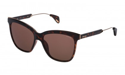 Police SPL621 0978 Havana Dark Shiny - Red