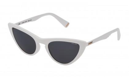 Police SPL902 04AO White Shiny - Smoke