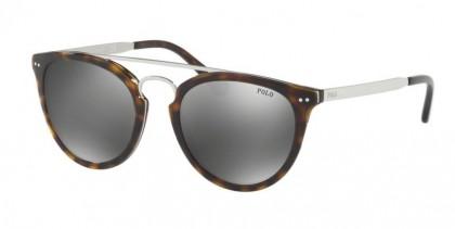 Polo Ralph Lauren 0PH4121 50036G Shiny Dark Havana - Flash Silver Mirror