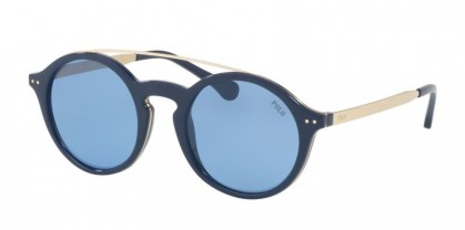 Polo Ralph Lauren 0PH4122 559072 Shiny Havana Blue - Light Blue