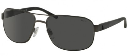Polo Ralph Lauren 0PH3093 928887 Matte Dark Gunmetal - Grey