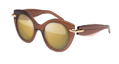 Pomellato PM0004S-004 Brown - Brown Bronze Mirror Shaded
