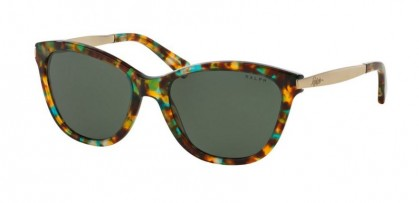 Ralph 0RA5201 145671 Teal Tortoise Gold - Green Solid