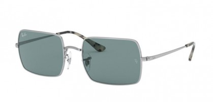 Ray-Ban 0RB1969 919756 RECTANGLE Silver - Azure Mirror Blue
