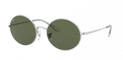 Ray-Ban 0RB1970 914931 OVAL Silver - Green