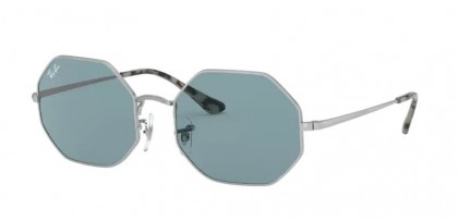 Ray-Ban 0RB1972 919756 OCTAGON Silver - Azure Mirror Blue