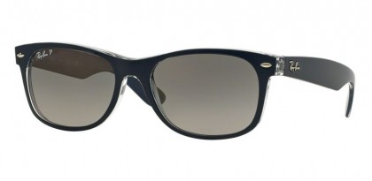 Ray-Ban 0RB2132 NEW WAYFARER 6053/M3 Top Blue on Trasparent - Grey Gradient Polarized