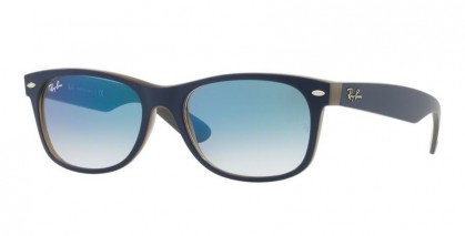 Ray Ban 0RB2132 NEW WAYFARER 63083F Matte Blue on Opal Brown - Blue Gradient