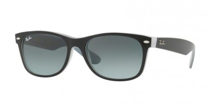Ray Ban 0RB2132 NEW WAYFARER 630971 Matte Black on Opal Ice - Grey Gradient
