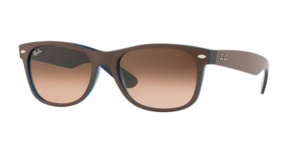 Ray Ban 0RB2132 NEW WAYFARER 6310A5 Matte Chocolat on Opal Yellow - Brown Gradient