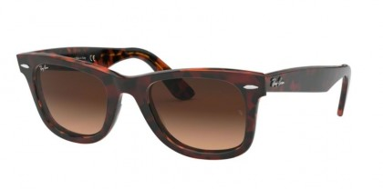 Ray Ban 0RB2140 1275A5 WAYFARER Top Tr Red On Orange Havana - Pink Gradient Brown