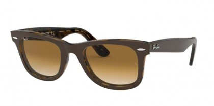 Ray Ban 0RB2140 127651 WAYFARER Top Brown On Yellow Havana - Clear Gradient Brown