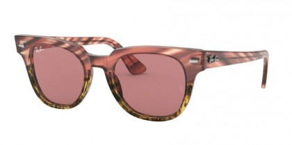 Ray Ban 0RB2168 1253U0 METEOR Pink Gradient Beige Stripped - Violet Photo Mirror Gold Violet