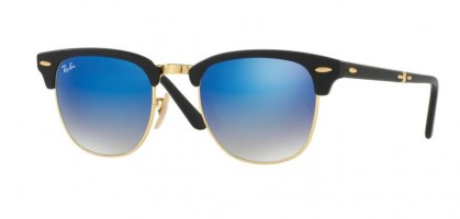 Ray-Ban 0RB2176 CLUBMASTER FOLDING 901S7Q Matte Black - Blue Flash Gradient
