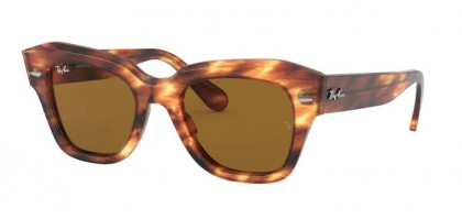 Ray-Ban 0RB2186 954/33 STATE STREET Stripped Havana - Brown